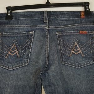 "7 For All Mankind Women 30 x 30 ""A"" Pocket Jeans"